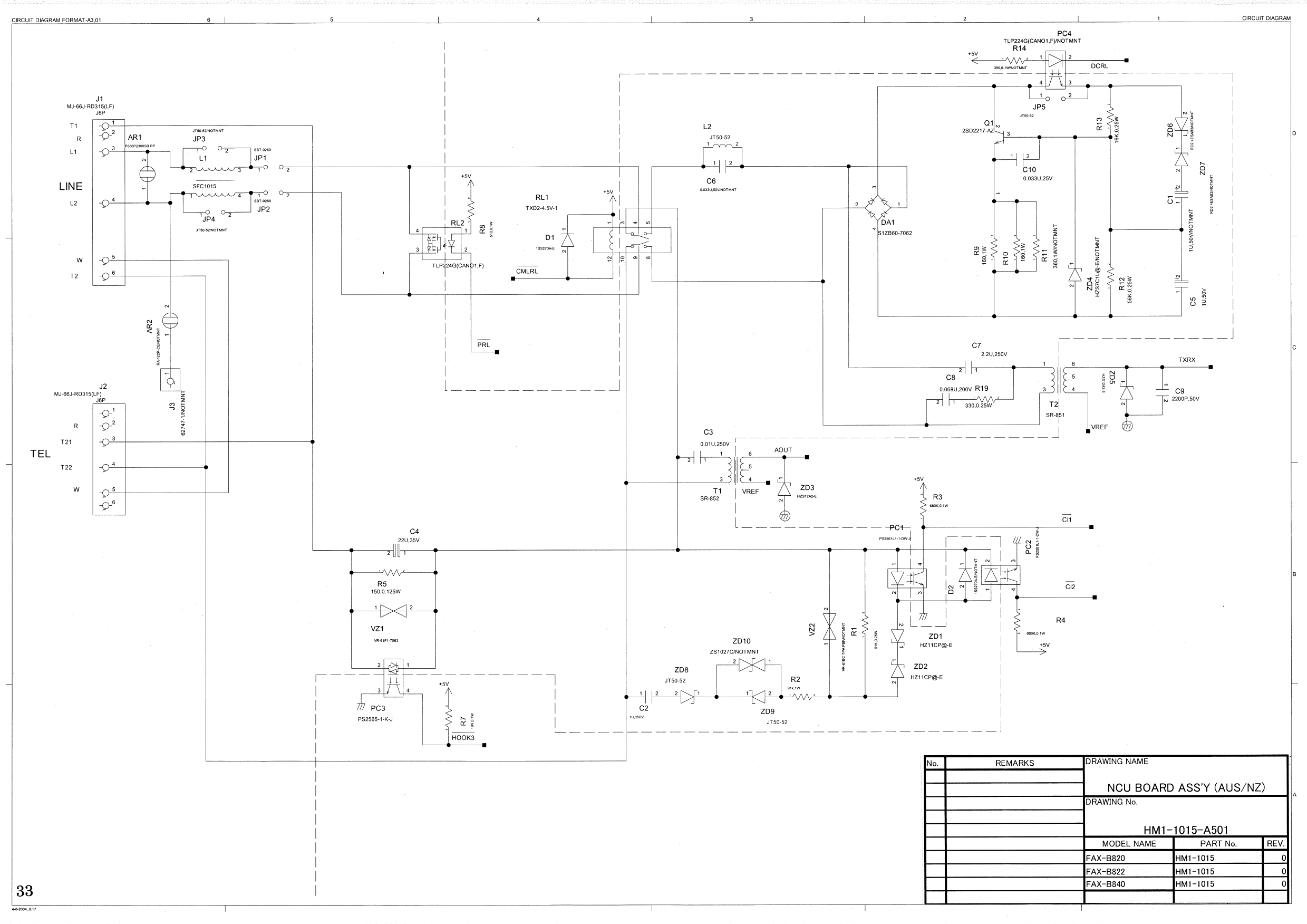 canon fax b820 b822 b840 ncu